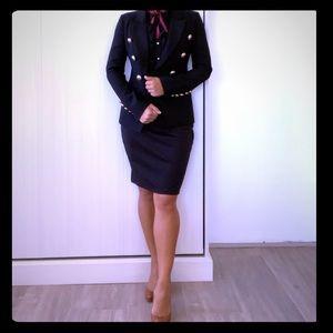Zara Gold Button Black blazer- XS